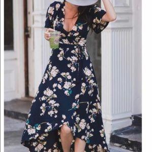 Cotton Candy La wrap dress